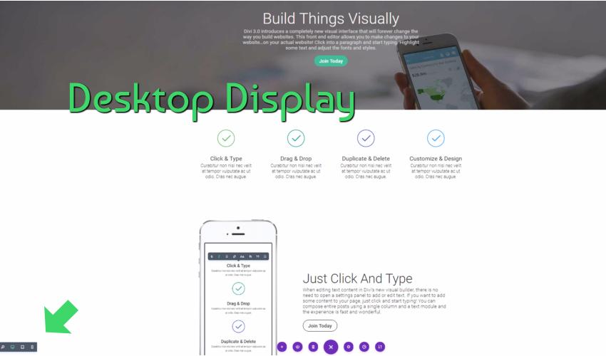 Visual Editor Desktop Display