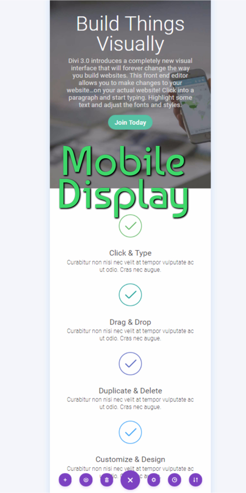 Visual Editor Mobile Display