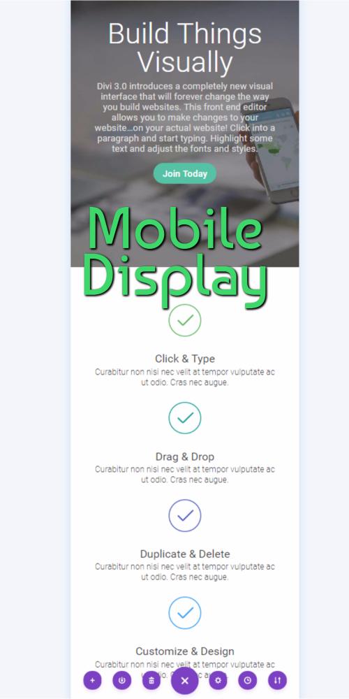Visual Editor Mobile Display