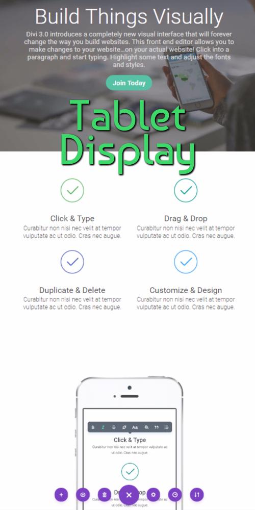 Visual Editor Tablet Display