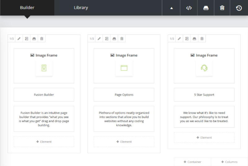 Avada's Page Builder