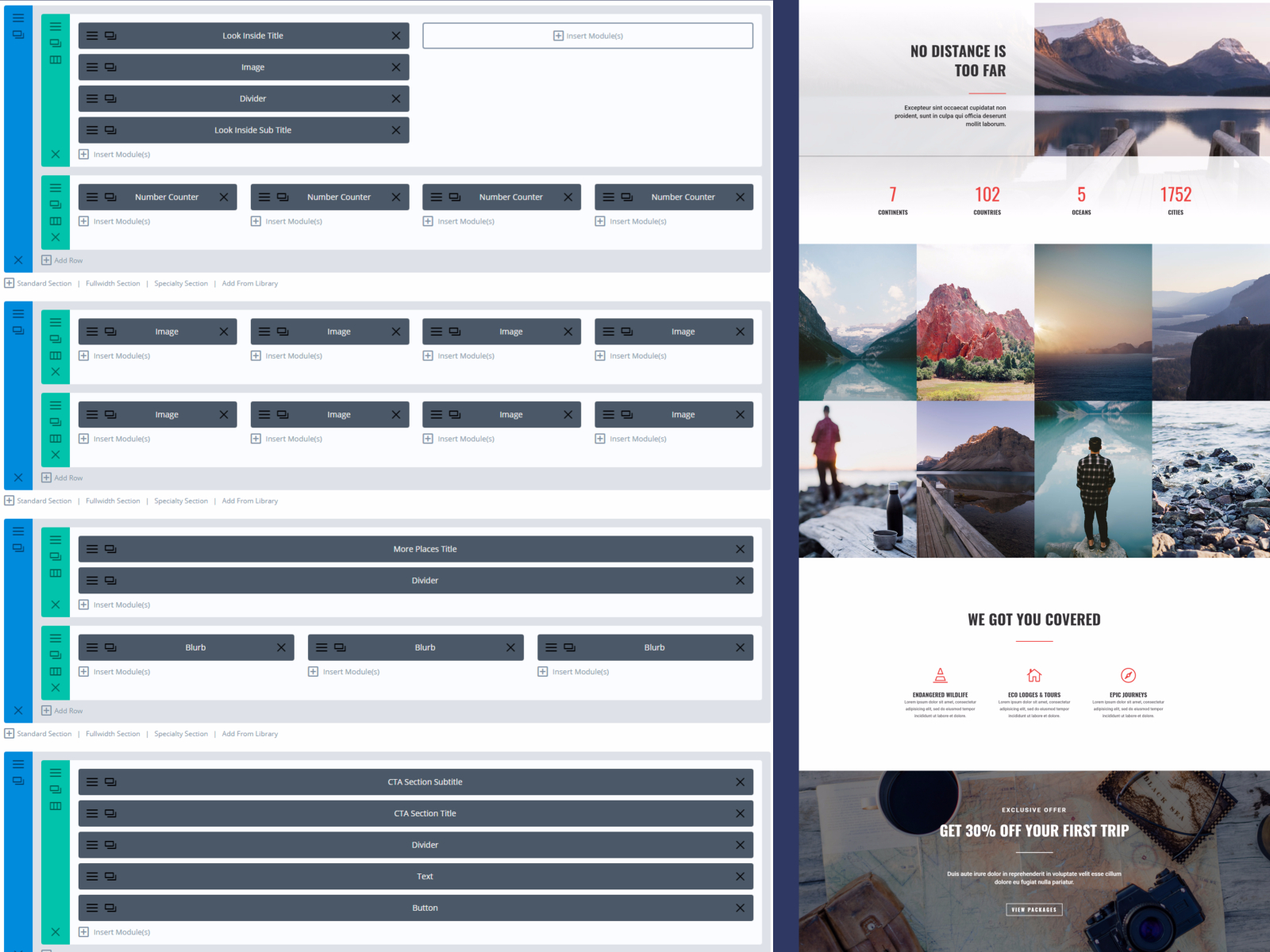 This is what a page builder looks like