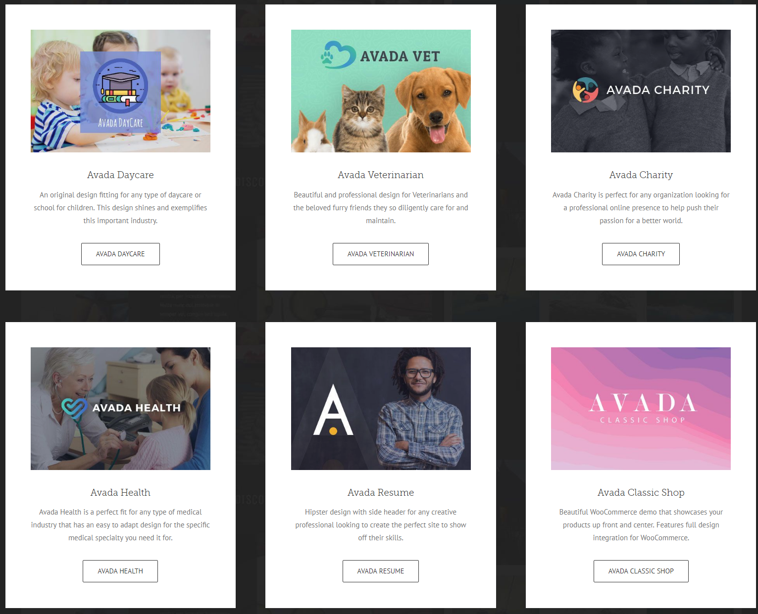 Complete Avada Demo Sites for WordPress